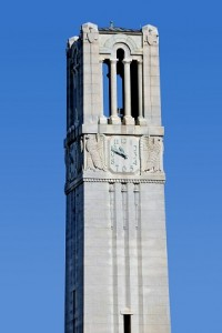 Memorial Belltower on a sunny Fall morning.
